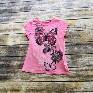 Girls butterfly t shirt! Size 10/12
